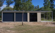 Garaport with Roller doors and Glass sliding door