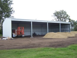 Large Sliding Door Farm Shed with 6m open bays
