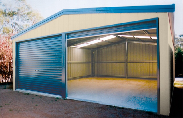 Buy discount sheds online shed and shed kits australia for Double garage kit