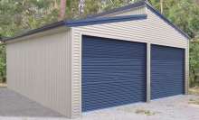 Double Garage with Skillion Roof