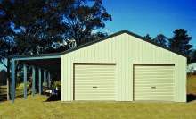 Garage with lean-to