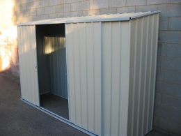 slim garden shed
