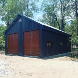 Shed with 30 degree pitch roof