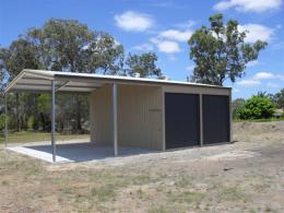 Garaport with 2 Roller Doors